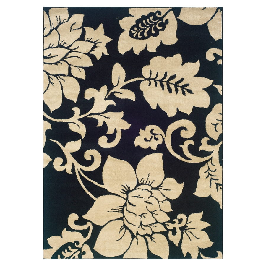 Sedia Home Rebecca Black Rectangular Indoor Woven Nature Area Rug (Common: 5 x 7; Actual: 60-in W x 87-in L)