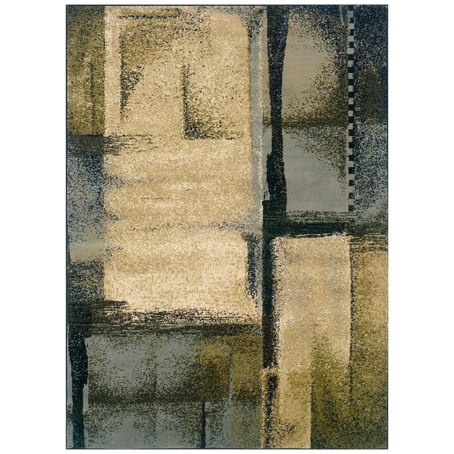 Sedia Home Riley Blue Rectangular Indoor Woven Area Rug (Common: 4 x 6; Actual: 38-in W x 65-in L)