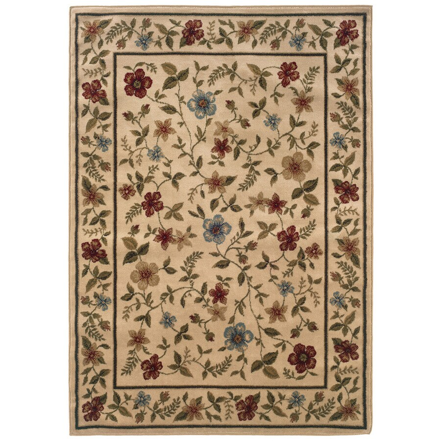 Sedia Home Kaylee Ivory Rectangular Indoor Woven Nature Area Rug (Common: 5 x 7; Actual: 60-in W x 87-in L)