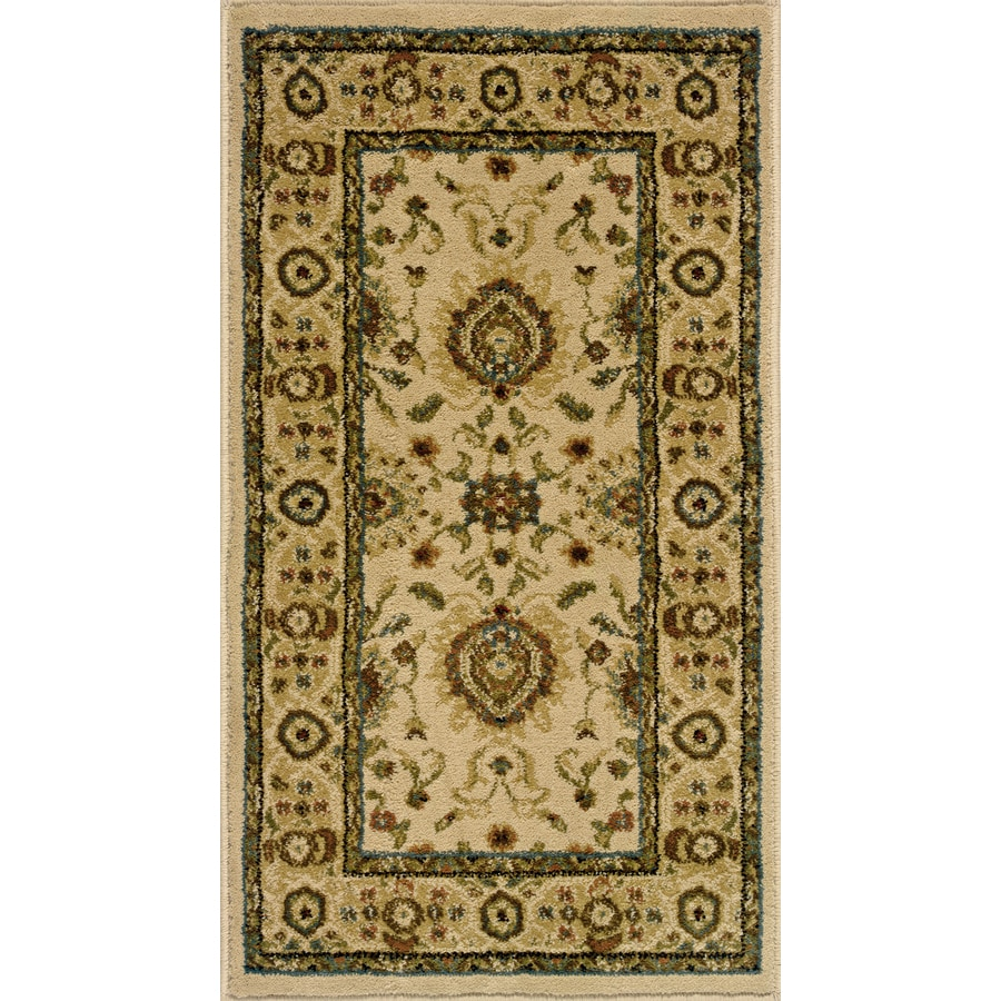 Oriental Weavers of America Revival Rectangular Cream Floral Woven Accent Rug (Common: 2-ft x 3-ft; Actual: 22-in x 39-in)