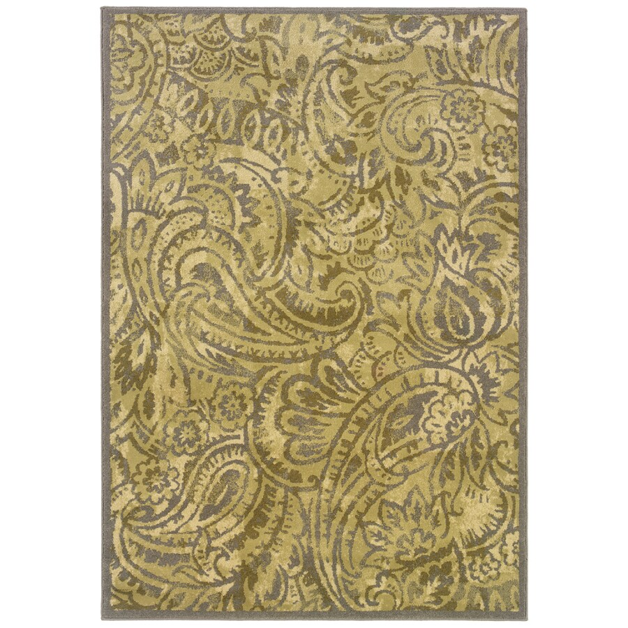 allen + roth Horsham 9-ft 10-in x 12-ft 9-in Rectangular Cream Transitional Area Rug