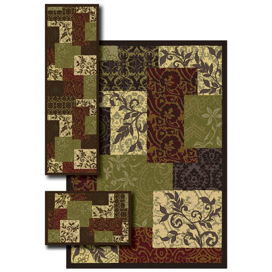Oriental Weavers of America Chandler 4-ft 11-in x 7-ft Rectangular Multicolor Transitional Area Rug