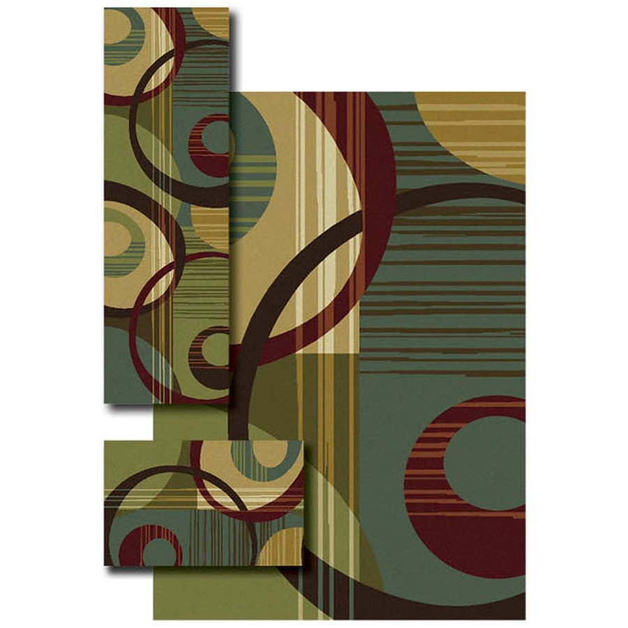 Oriental Weavers of America Slaton 4-ft 11-in x 7-ft Rectangular Multicolor Transitional Area Rug