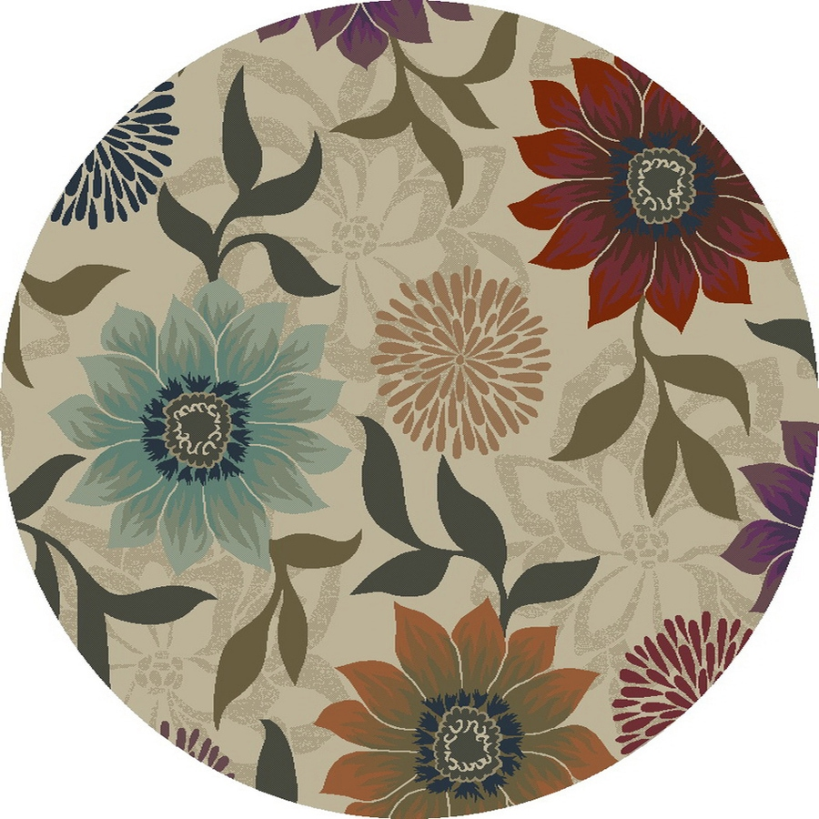 Oriental Weavers of America Cumberland Beige Round Indoor Woven Nature Area Rug (Common: 8 x 8; Actual: 92-in W x 92-in L x 7.67-ft Dia)