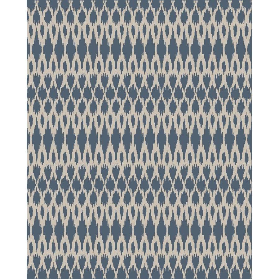 Style Selections Moraset Ivory and Teal Rectangular Indoor Woven Area Rug (Common: 10 x 13; Actual: 118-in W x 153-in L)