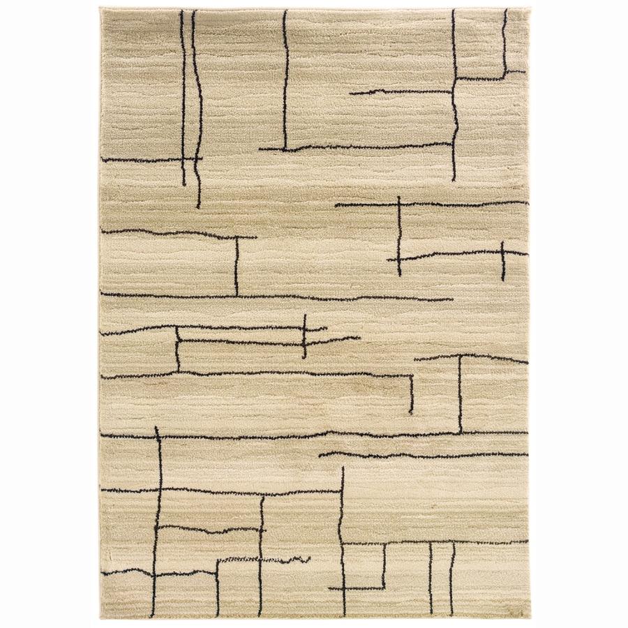 allen + roth Lamport Ivory Rectangular Indoor Woven Area Rug (Common: 4 x 6; Actual: 48-in W x 69-in L)