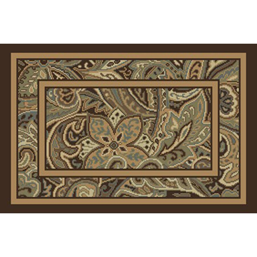allen + roth Paisley Park Multicolor Rectangular Indoor Woven Nature Throw Rug (Common: 2 x 3; Actual: 23-in W x 37-in L)