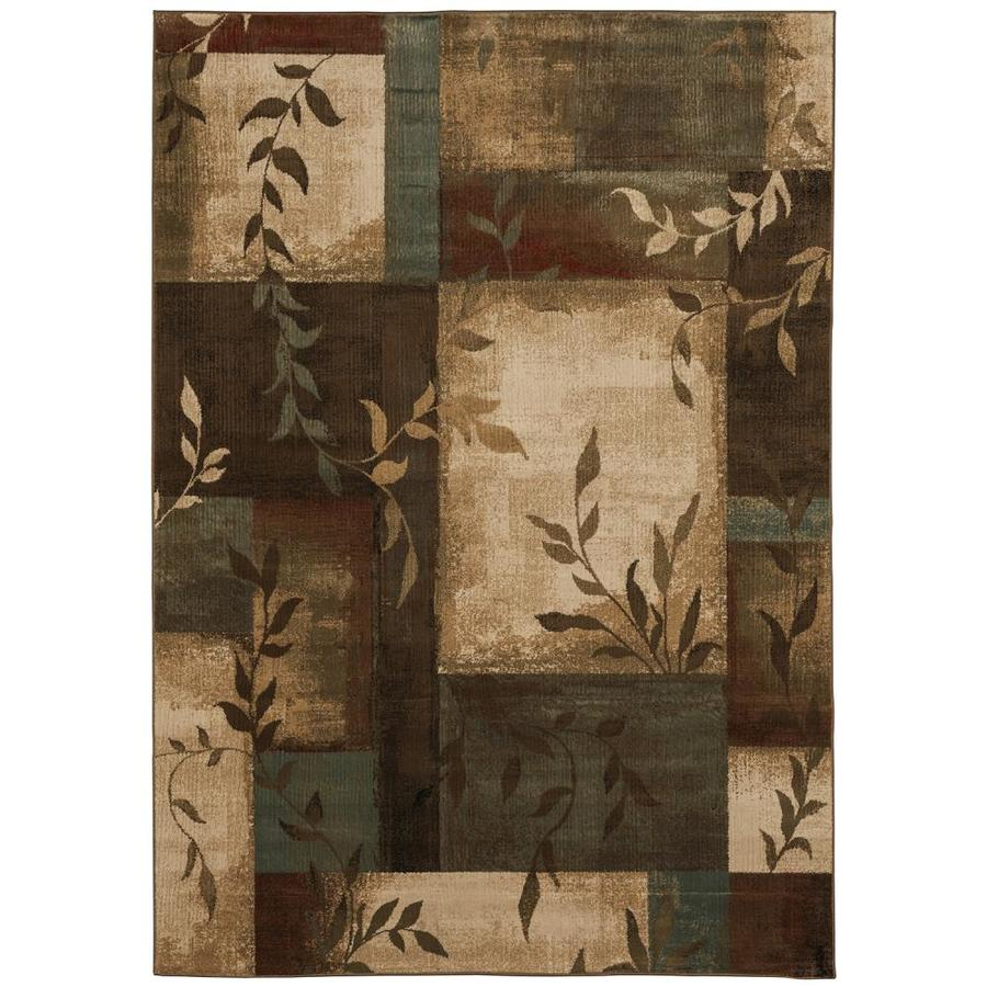Oriental Weavers of America Harper Multicolor Rectangular Indoor Woven Nature Area Rug (Common: 8 x 11; Actual: 92-in W x 130-in L)