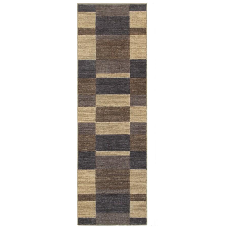 Oriental Weavers of America Cosmopolitan Slate Rectangular Indoor Tufted Runner (Common: 2 x 8; Actual: 26-in W x 90-in L)