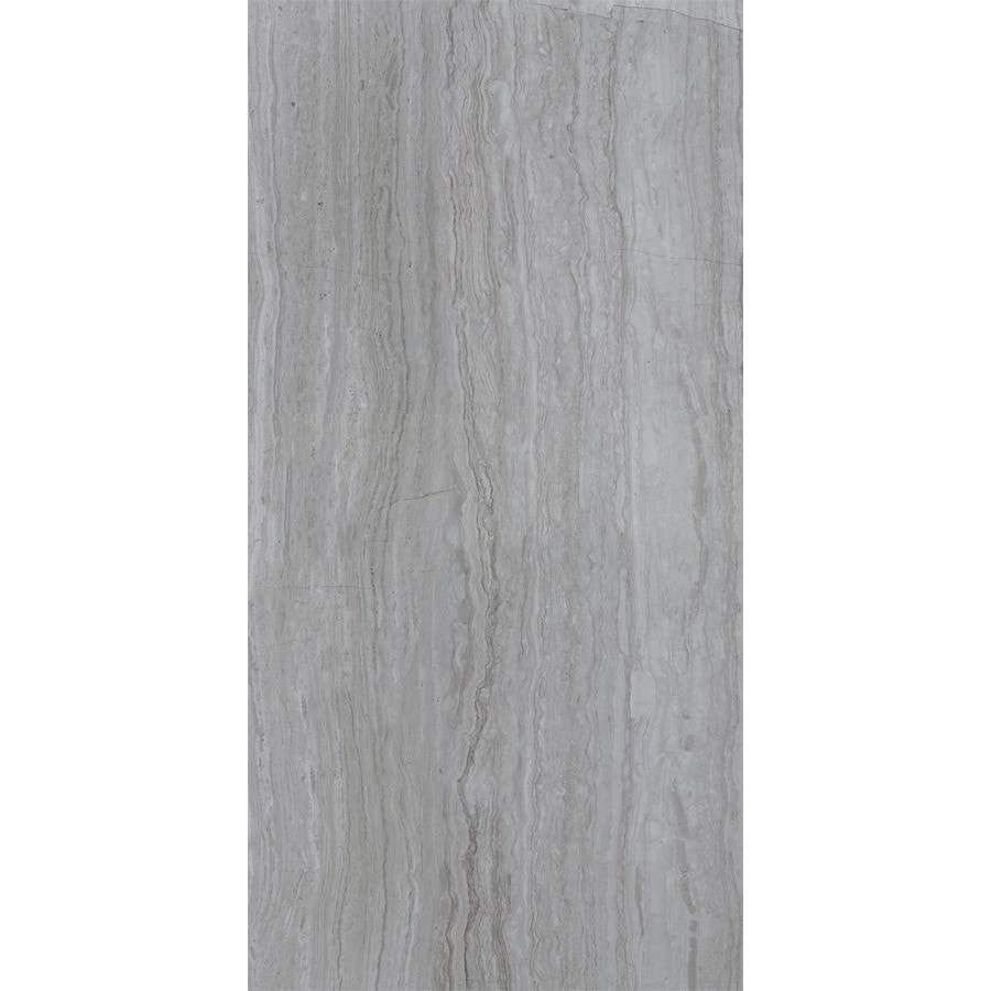 Shop Style Selections Vista Gray Ceramic Travertine Floor And Wall Tile Common 12 In X 24 In