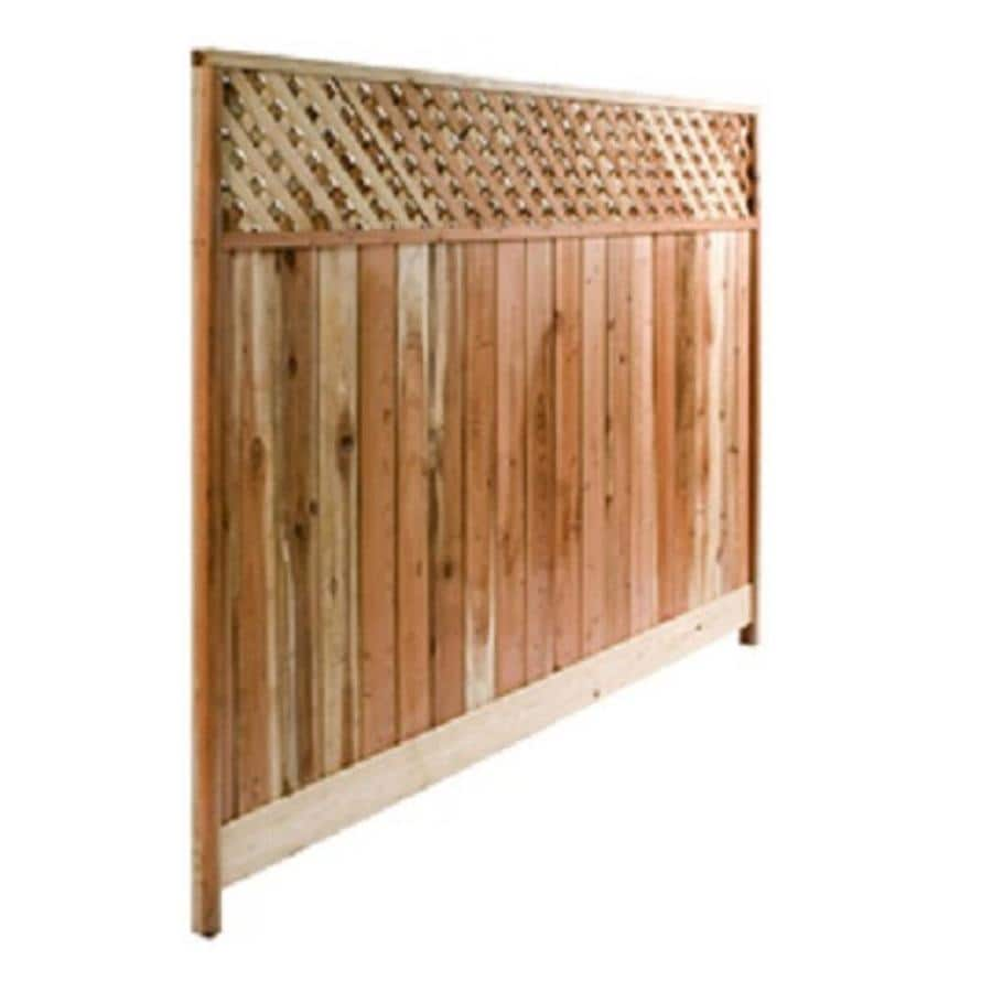 Top Choice Natural Redwood Privacy Fence Panel (Common: 8-ft x 6-ft; Actual: 8-ft x 6-ft)