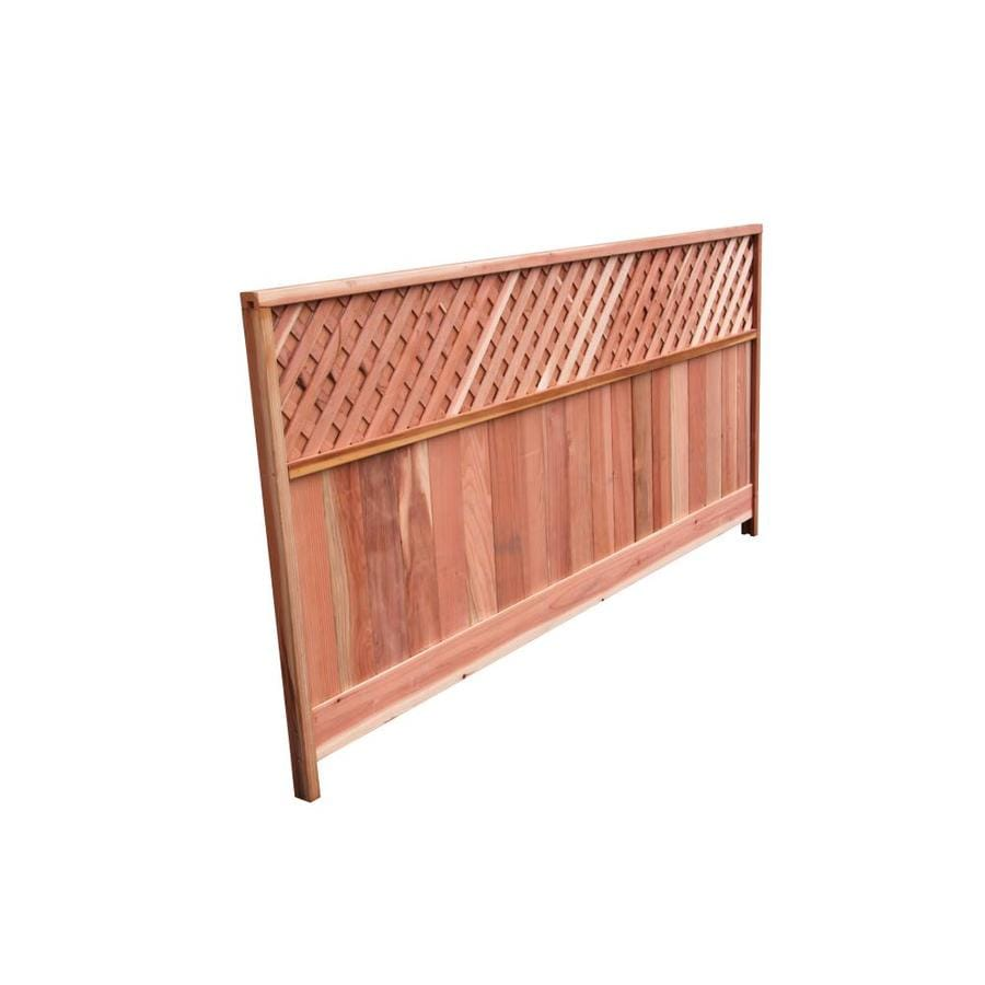 Top Choice Natural Redwood Privacy Fence Panel (Common: 8-ft x 4-ft; Actual: 8-ft x 4-ft)