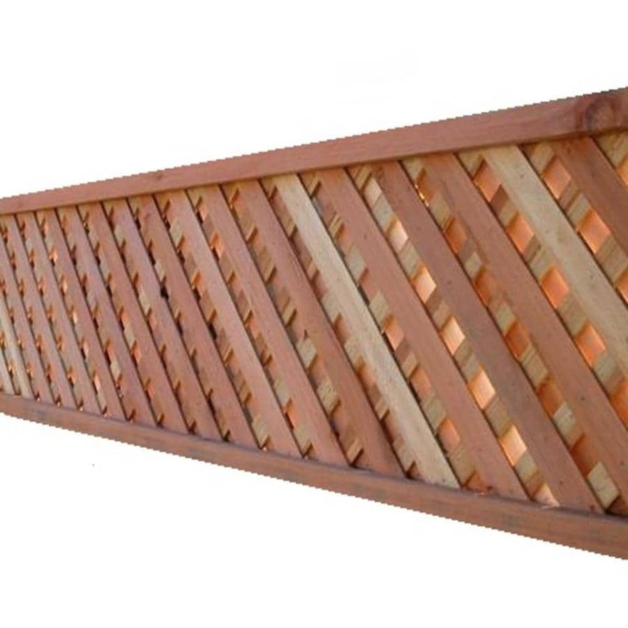 Top Choice Natural Redwood Privacy Lattice (Common: 2-1/4-in x 96-in x 2-ft; Actual: 2.25-in x 96-in x 1.375-ft)