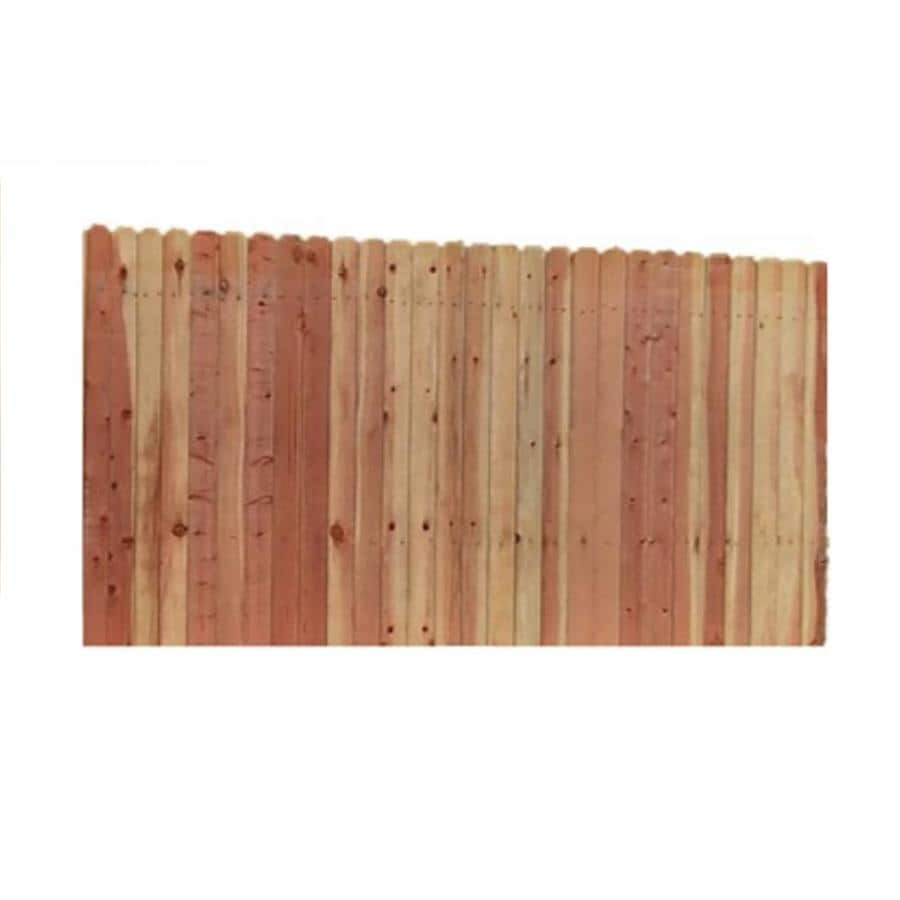 Top Choice Natural Wood Redwood Fence Panel (Common: 8-ft x 6-ft; Actual: 8-ft x 6 Feet)
