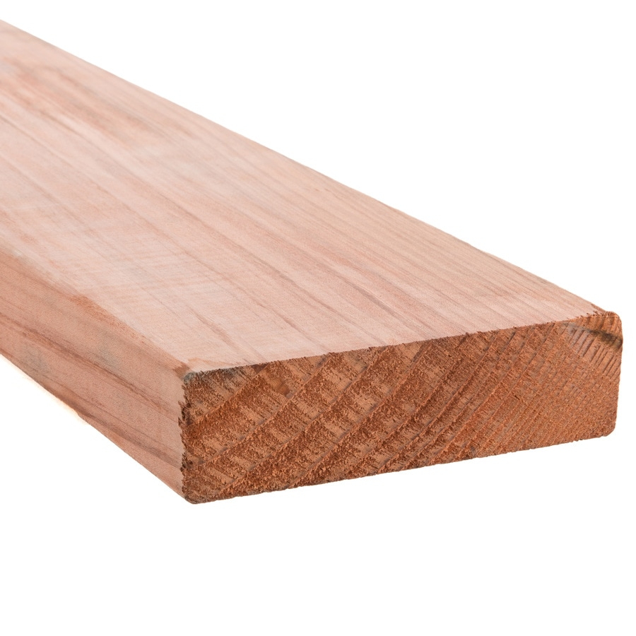 Top Choice Construction Heart Natural Redwood Radius Edge Deck Board (Actual: 1.5-in x 5.5-in x 12-ft)
