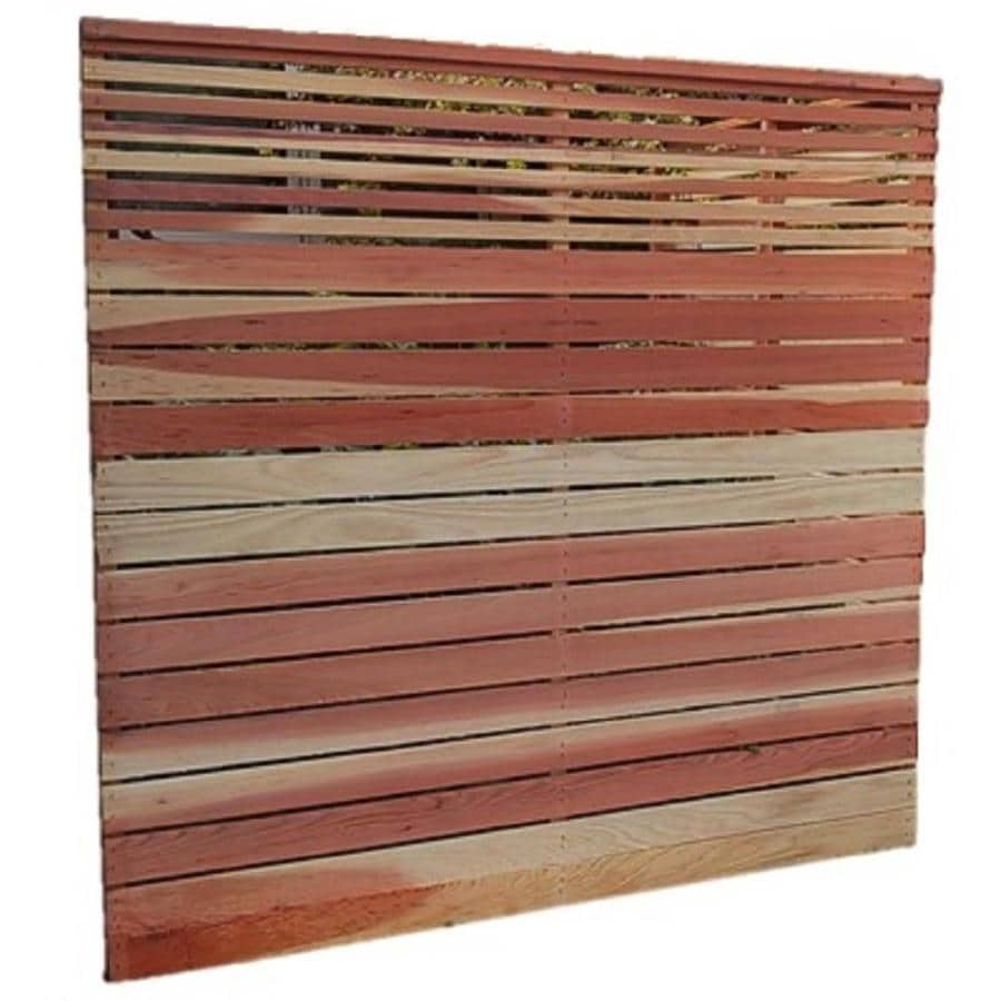 Top Choice Natural Wood Redwood Fence Panel (Common: 6-ft x 6-ft; Actual: 6-ft x 6 Feet)