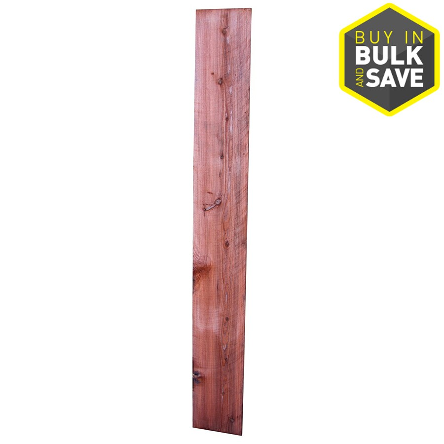Top Choice Construction Heart Natural Redwood Redwood Fence Picket (Common: 3/4-in x 7-1/2-in x 8-ft; Actual: 0.7187-in x 7.625-in x 8-ft)