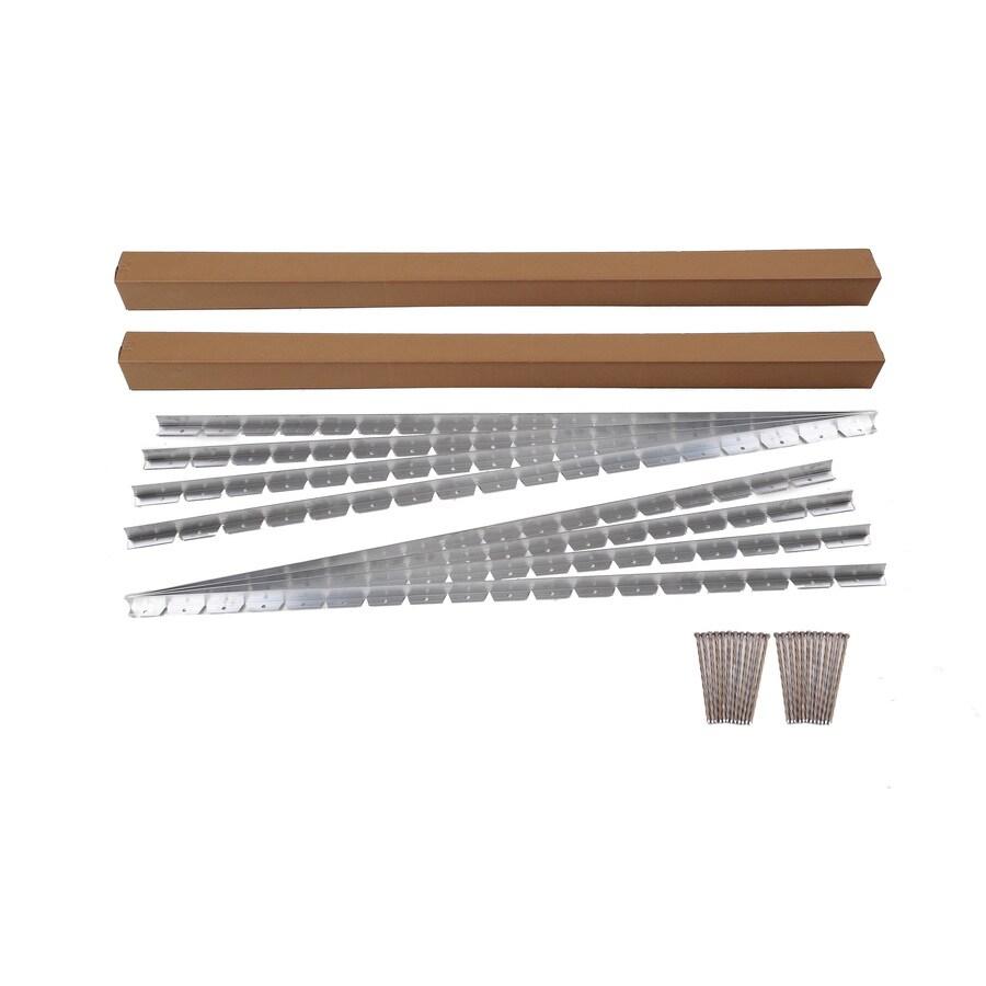 EasyFlex 8-Pack 8-ft Silver Steel Landscape Edging Sections
