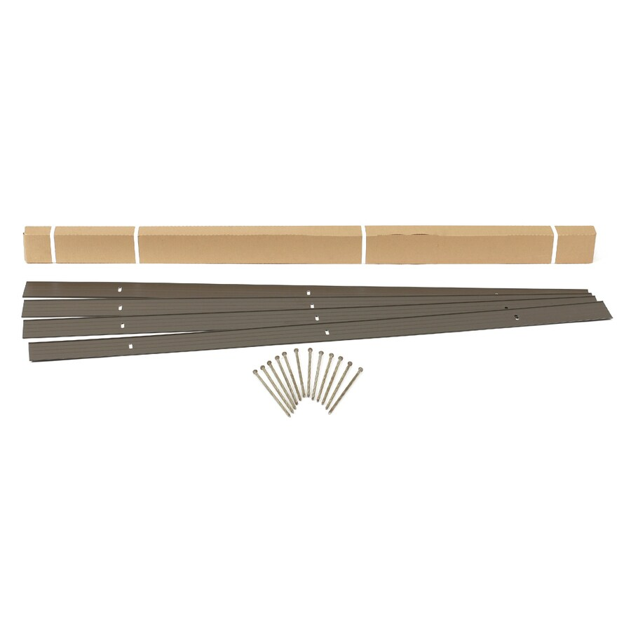 EasyFlex 4-Pack 6-ft Bronze Steel Landscape Edging Sections
