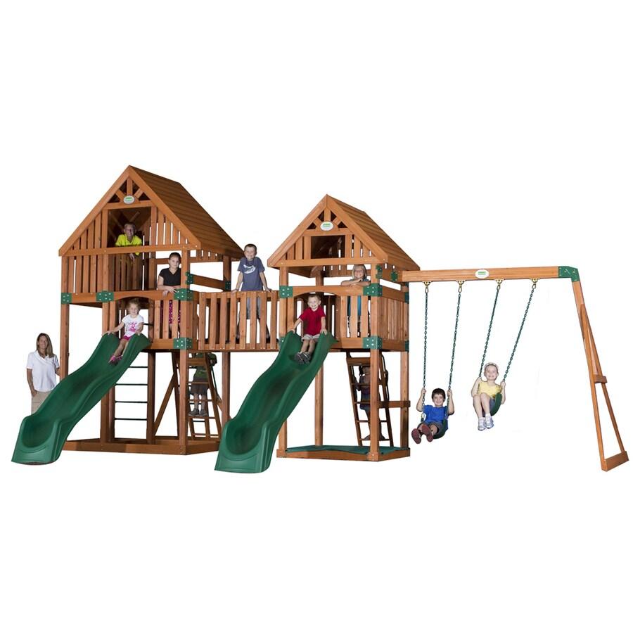 Backyard Discovery Vista All Cedar Wood Playset with Swings