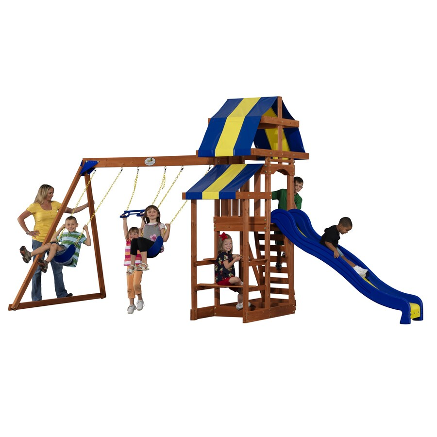 Adventure Playsets Sunchaser Residential Wood Playset with Swings