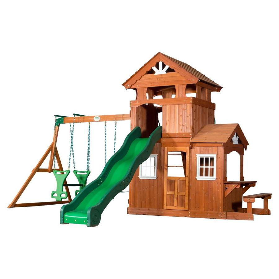 Backyard Discovery Residential Wood Playset with Swings
