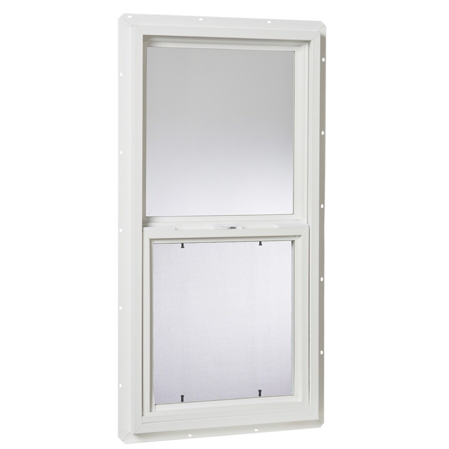 Project Source 20000 Series Vinyl Single Pane Single Strength Single Hung Window (Rough Opening: 18-in x 36-in; Actual: 17.5-in x 35.5-in)