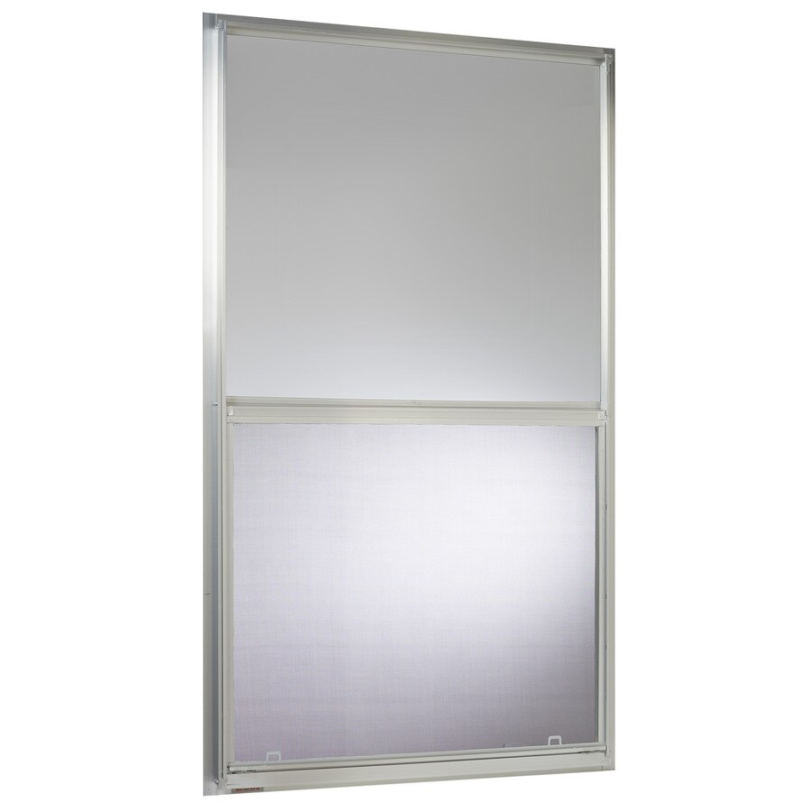 Project Source 40000 Series Aluminum Single Pane Single Strength Replacement Single Hung Window (Rough Opening: 30.25-in x 54.25-in; Actual: 30-in x 54-in)