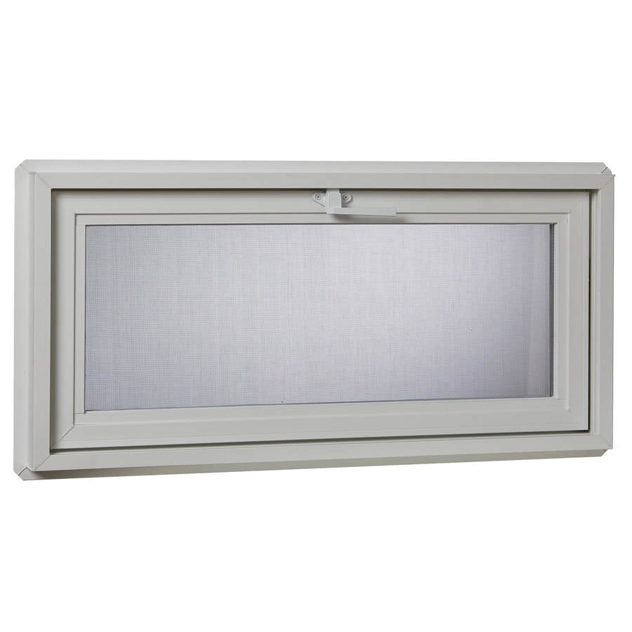 Project Source 30001 Series Tilting Vinyl Double Pane Double Strength Replacement Basement Hopper Window (Rough Opening: 32.25-in x 18.25-in Actual: 31.75-in x 17.75-in)