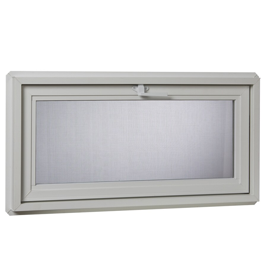 Project Source 30001 Series Tilting Vinyl Double Pane Double Strength Replacement Basement Hopper Window (Rough Opening: 32.25-in x 16.25-in Actual: 31.75-in x 15.75-in)