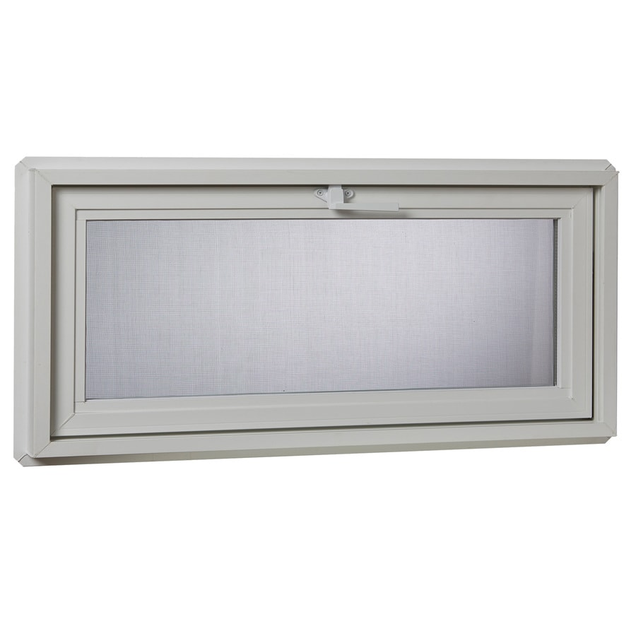 Project Source 30001 Series Tilting Vinyl Double Pane Double Strength Replacement Basement Hopper Window (Rough Opening: 32.25-in x 24.25-in Actual: 31.75-in x 23.75-in)