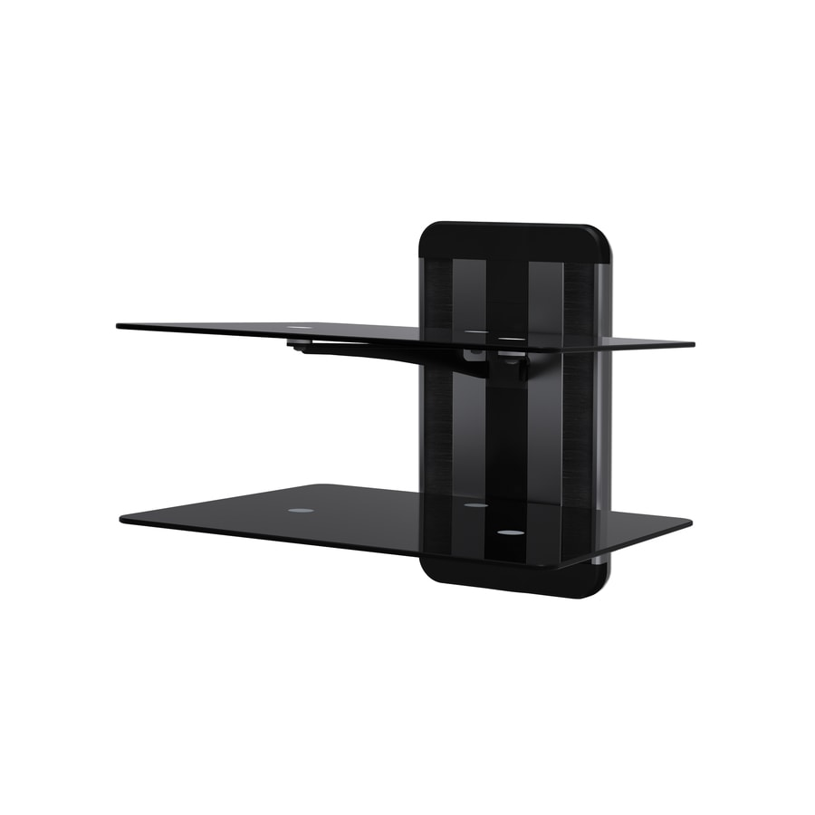 AVF Unimax 2-Shelf Adjustable Wall Mount Component Storage for Audio/Video Equipment or Gaming Consoles