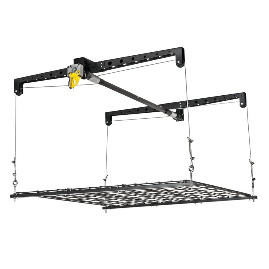 Racor 48.75-in W x 16.5-in D Black Steel Overhead Garage Storage