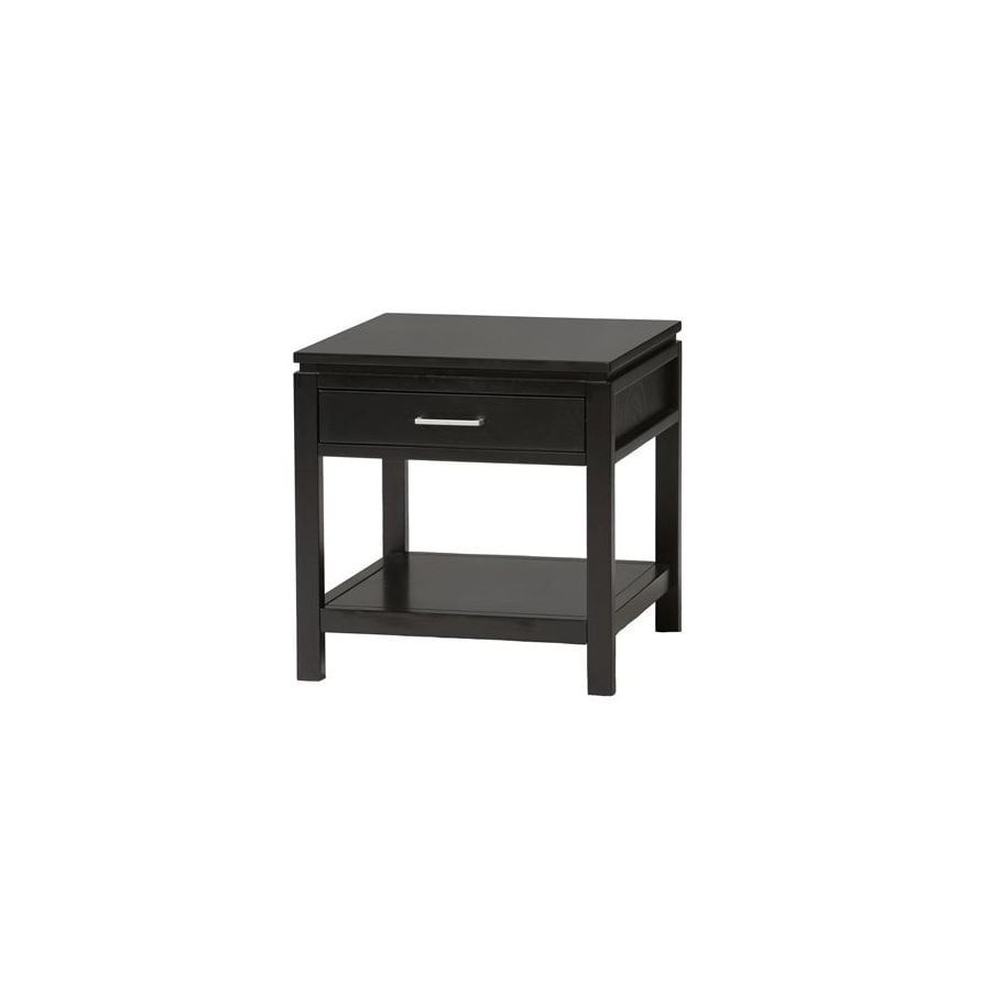 Linon Sutton Black Asian Hardwood Square End Table