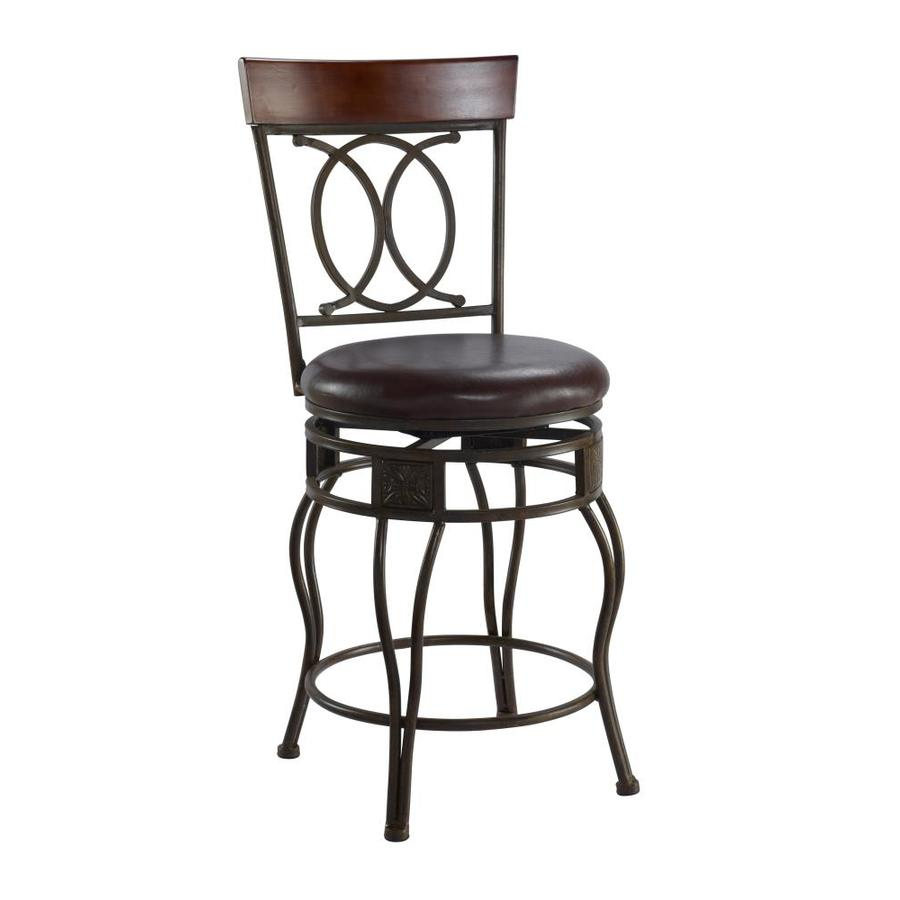 Linon Matt Bronze 24-in Counter Stool