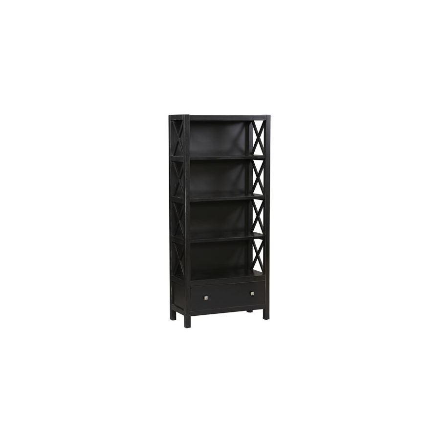 """Linon Anna Black 72-1/4"""" 4-Shelf Bookcase"""