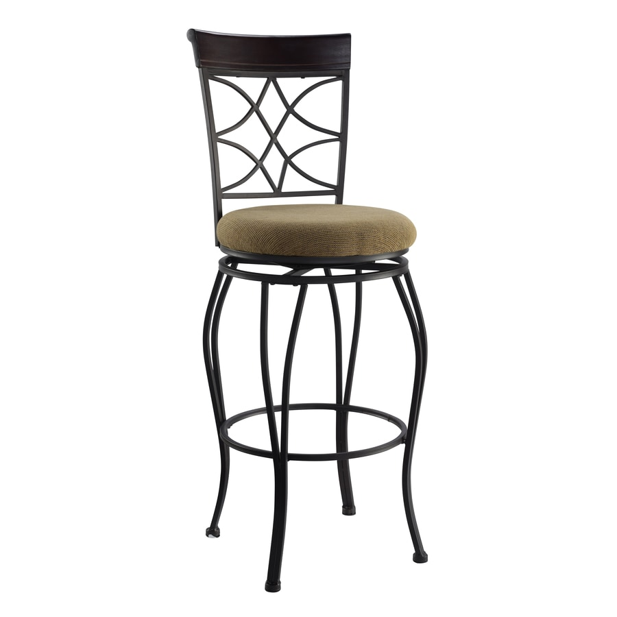 Linon Curves Metallic Brown 30-in Bar Stool