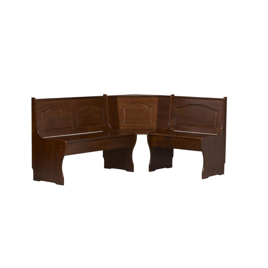 "Linon Corner Nook Walnut 67"" Dining Bench"