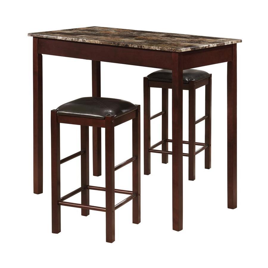 Linon Tavern Espresso 3-Piece Dining Set