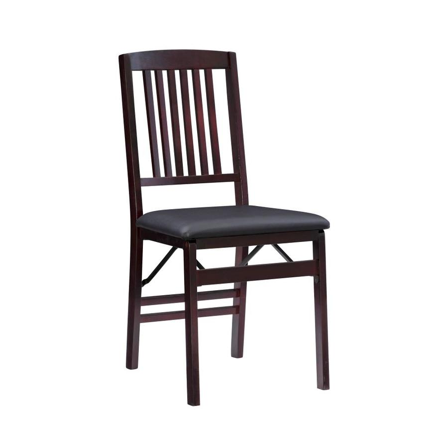 Linon Triena Mission Back Folding Chair