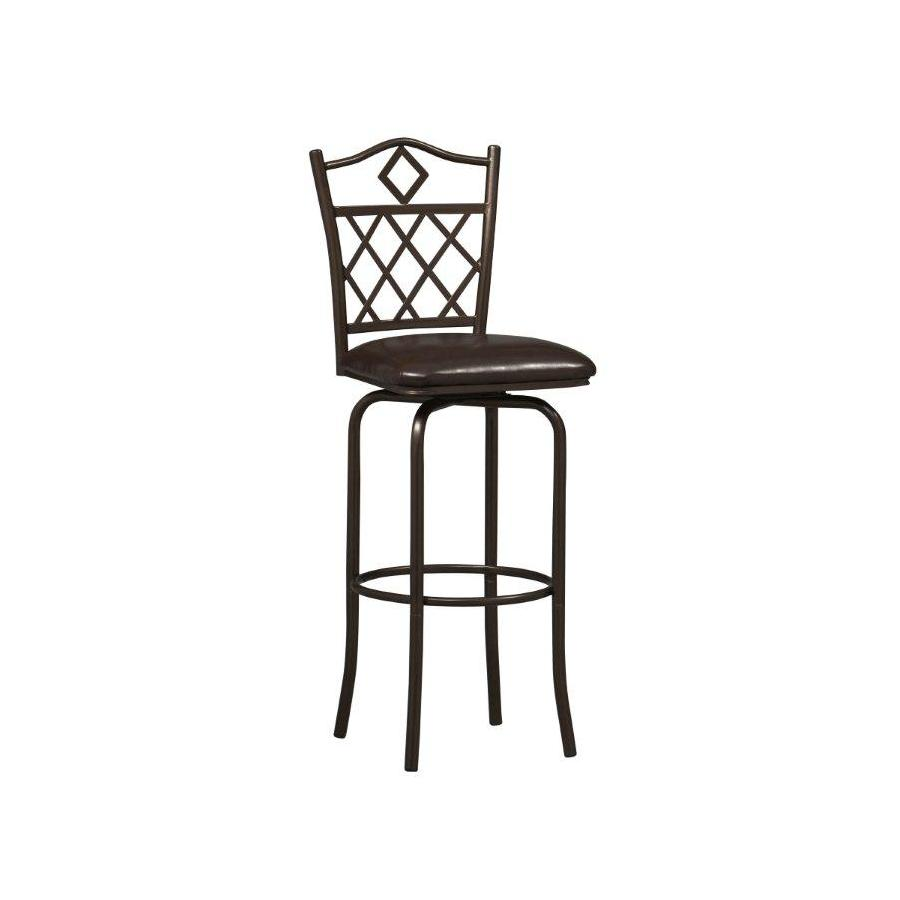 Linon Diamonds Brown 30-in Bar Stool