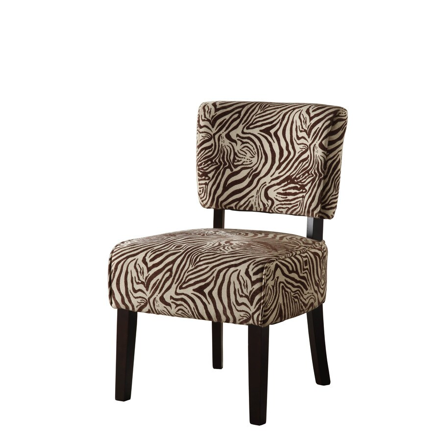 Linon Kenya Brown Zebra Accent Chair