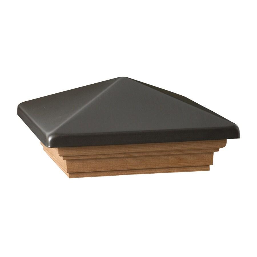 Maine Ornamental Pewter Metal Cedar Deck Post Cap (Fits Common Post Measurement: 6-in x 6-in; Actual: 8-in x 8-in x 3.25-in)