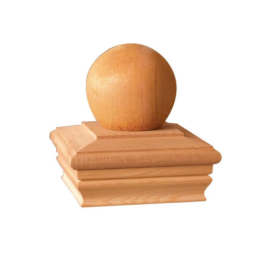 Maine Ornamental Brown Redwood Deck Post Cap (Fits Common Post Measurement: 4-in x 4-in; Actual: 5.54-in x 5.54-in x 5.77-in)
