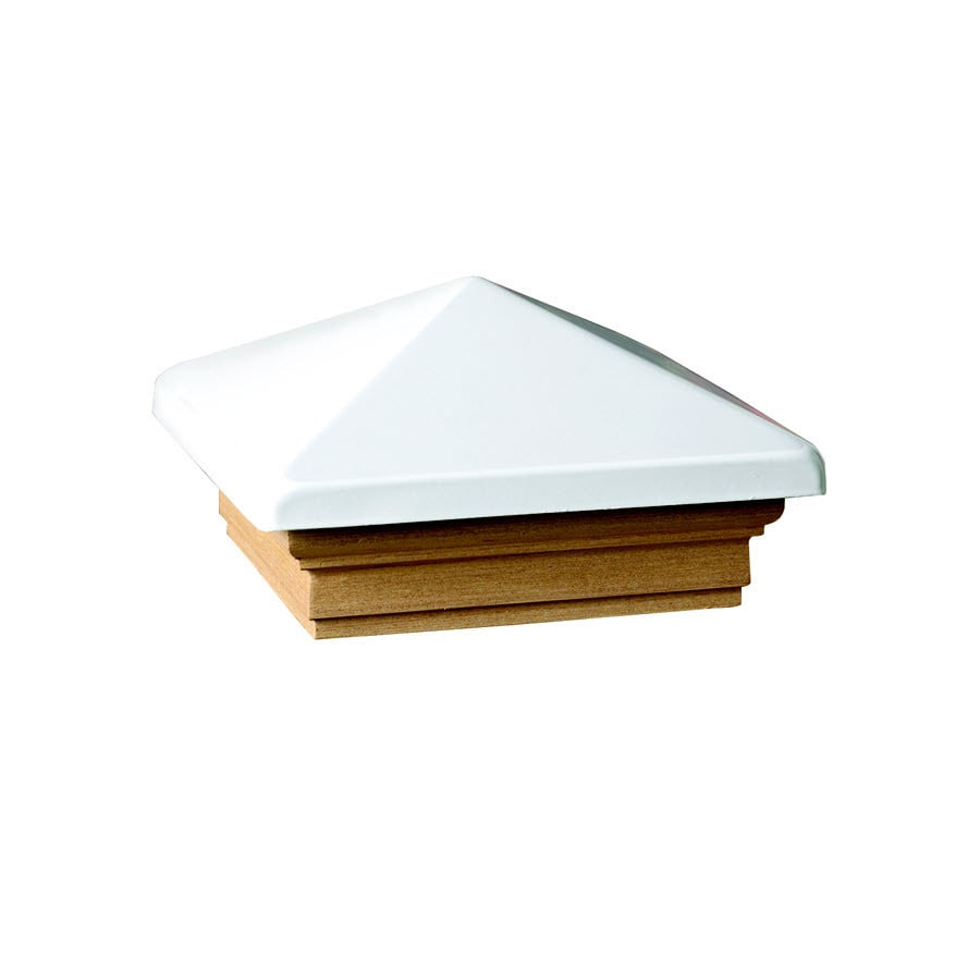 Maine Ornamental White  Metal Pine Deck Post Cap (Fits Common Post Measurement: 4-in x 4-in; Actual: 5.63-in x 5.63-in x 3.1-in)