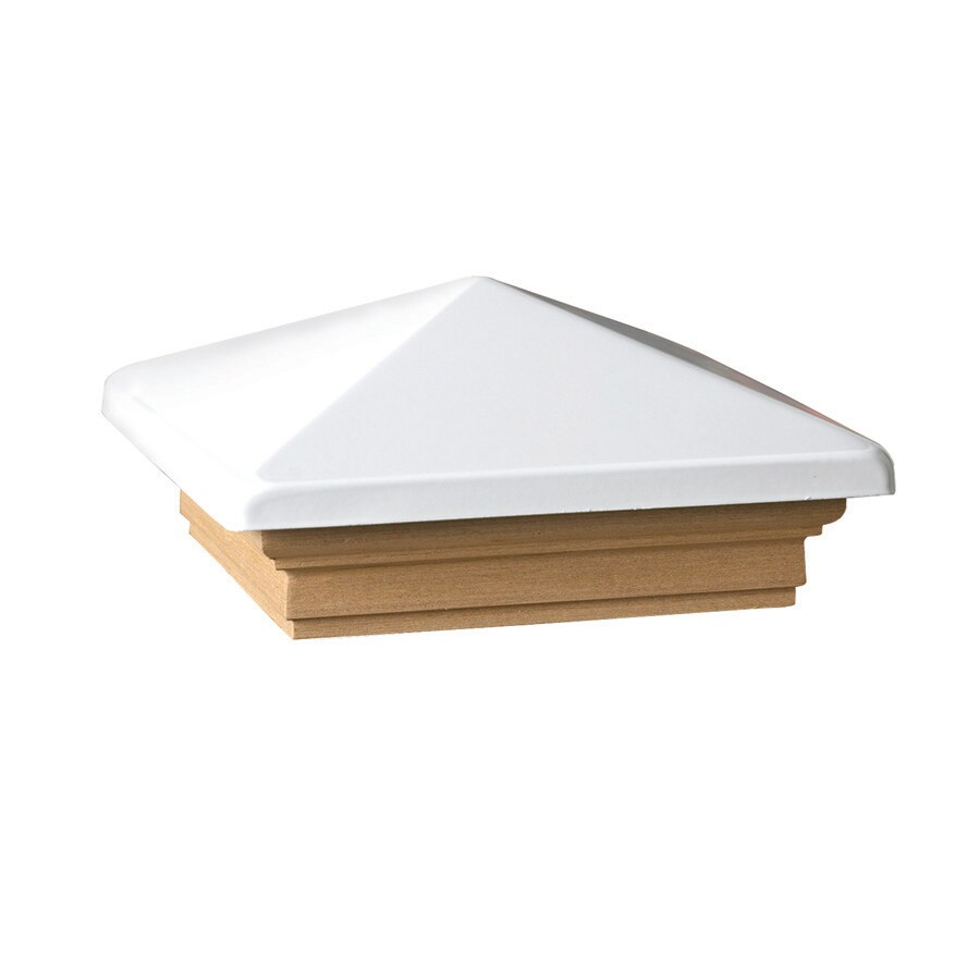 Maine Ornamental White Deck Post Cap