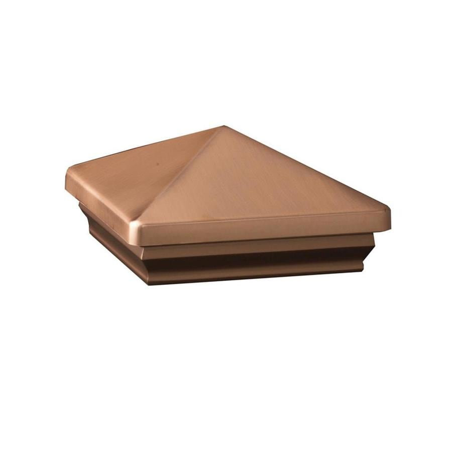 Maine Ornamental Copper Metal Deck Post Cap (Fits Common Post Measurement: 5-in x 5-in; Actual: 5.64-in x 5.64-in x 3.2-in)