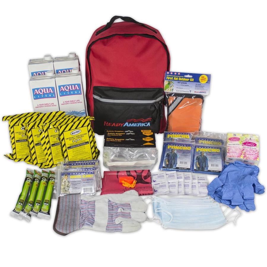 READY AMERICA 4 Person Grab 'N Go Essentials Backpack