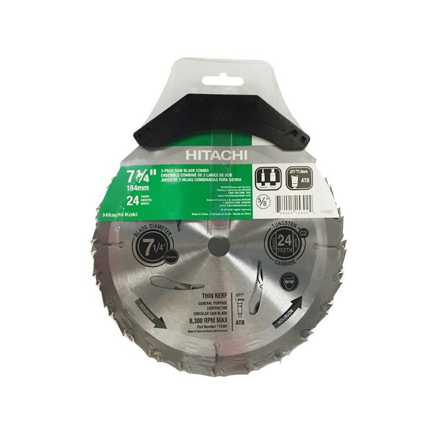 Hitachi 3-Pack 7-1/4-in 24-Tooth Standard Carbon Circular Saw Blades