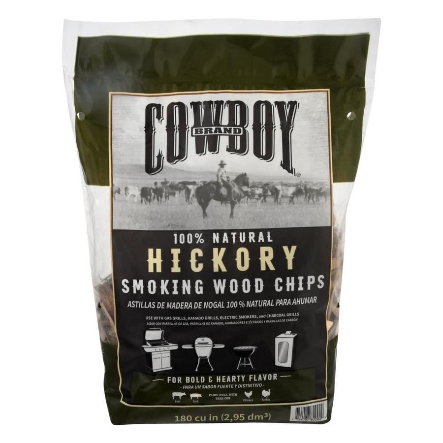 Cowboy Charcoal 180-cu in Hickory Wood Chips
